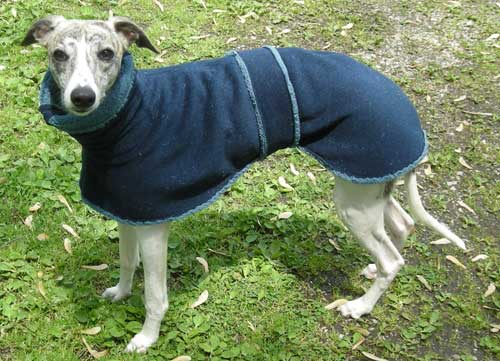 fleece dog coat - blue